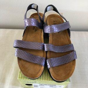 NAOT Kayla Graphic Purple Sandals Size 38 (7-7.5)